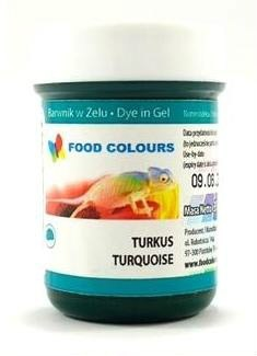 Turkusowy - barwnik w żelu (35g) - Food Colours