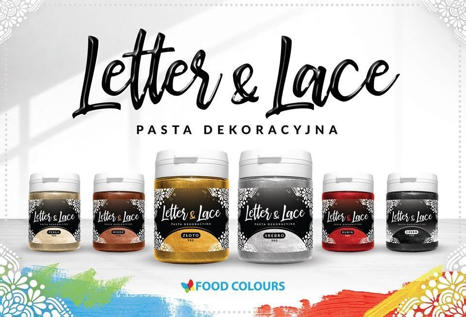 CZERŃ - pasta do koronek i malowania (90g) - Food Colours