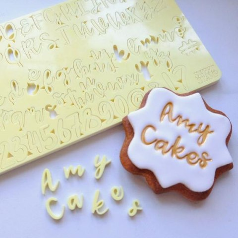 Stemple alfabet, cyfry i znaki - COOKIE - Sweet Stamp
